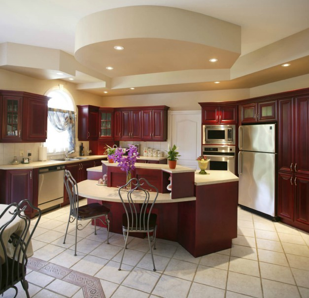 13 Photos Of Luxurious Curved Kitchen Islands Feelswarm