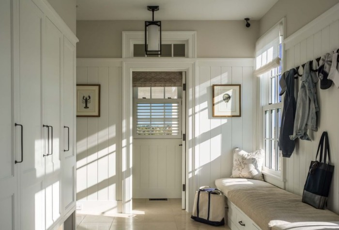 Custom Home Idea: Mudroom Maximum Storage