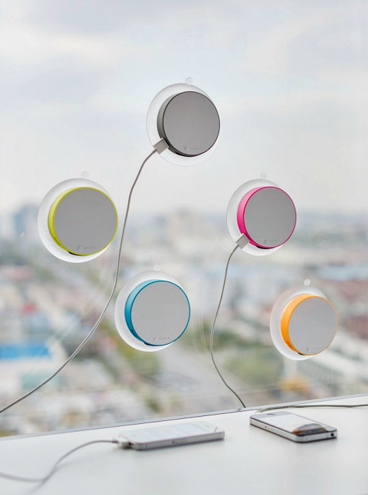 window mounted iPhone chargers